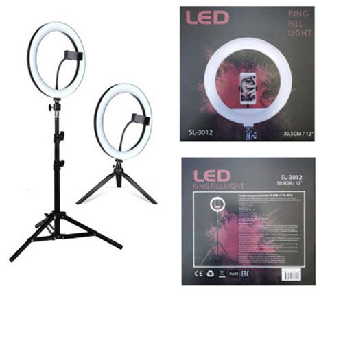 Кольцевая светодиодная лампа освещения SL-3012 30,5 см