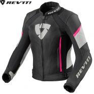 Мотокуртка женская Revit Xena 3, Черно-бело-розовая