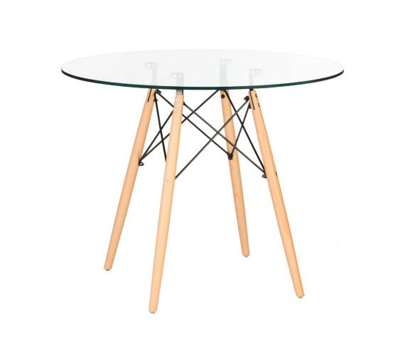 Стол обеденный стеклянный  LMZL-TD109-1 900х900