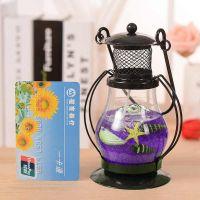 Гелевая свеча Керосиновая Лампа (цвет наполнителя фиолетовый)_2