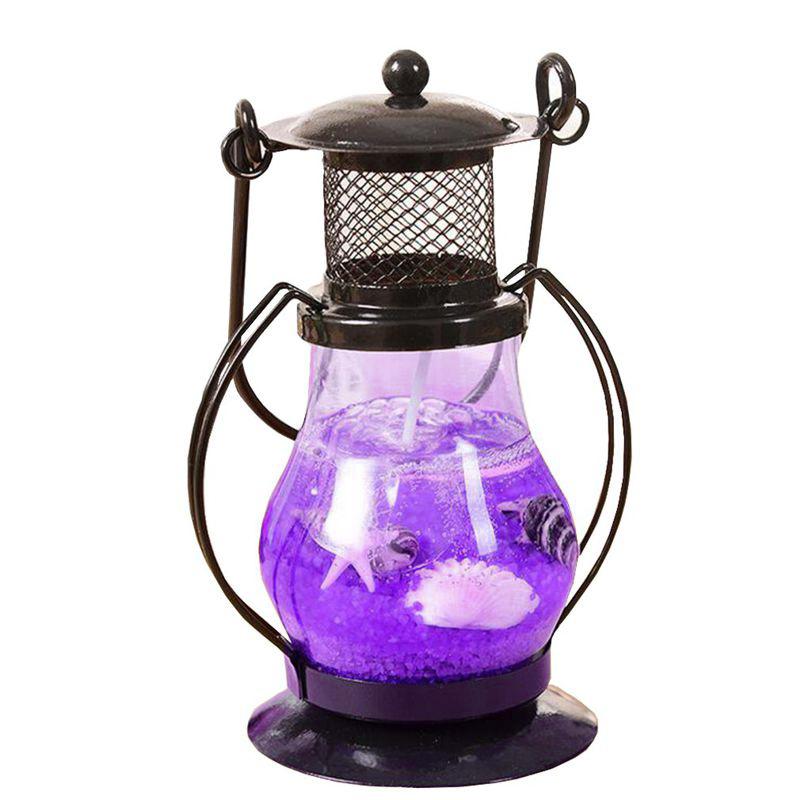 Гелевая свеча Керосиновая Лампа 9 см (цвет наполнителя фиолетовый)