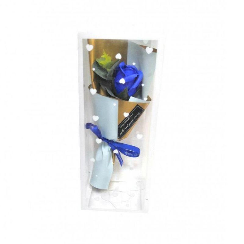 Мыльная роза 25 см (цвет синий)