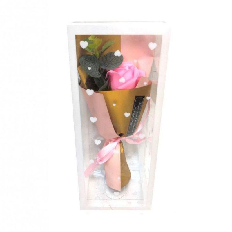 Мыльная роза 25 см (цвет розовый)