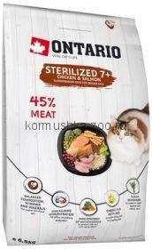 Оntario для пожилых стерилизованных кошек, с курицей