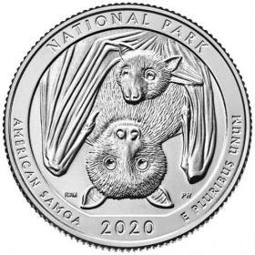 Национальный парк Американского(Западное) Самоа 25 центов США 2020 Двор на выбор