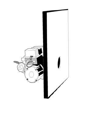 Изоляция передней двери котла
