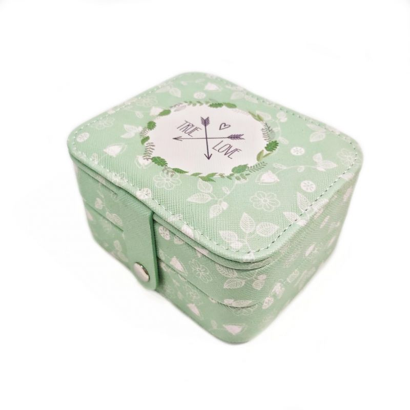 Мини шкатулка для ювелирных изделий True Love 11х9х6 см (цвет зелёный)