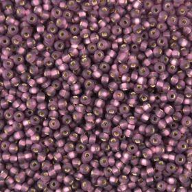 Бисер чешский 27060 прозрачный фиолетовый матовый серебряная линия внутри Preciosa 1 сорт
