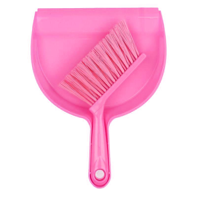 Мини совок с щёткой Dustpan Brush, Цвет Розовый