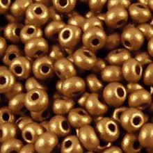 Бисер чешский 01720 непрозрачный горчично-бронзовый металлик Preciosa 1 сорт