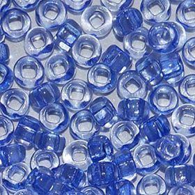 Бисер чешский 01231 прозрачный сине-сереневый Preciosa 1 сорт купить оптом
