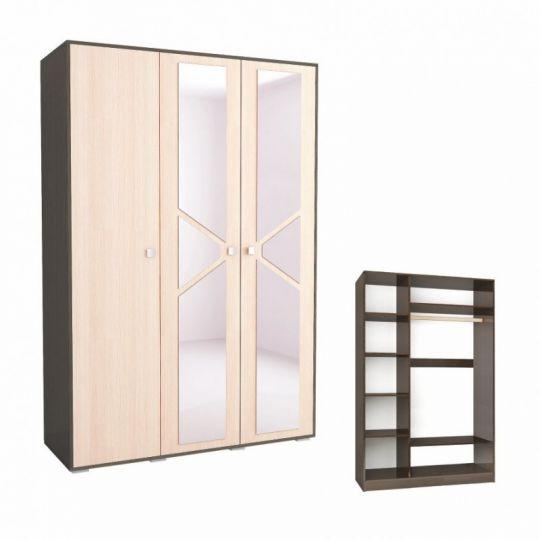 Шкаф 3-х створчатый Ненси-2