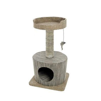 Игровой комплекс-когтеточка Ferribiella Tiragraffi Elegante Кошачий дозор для кошек 40х40х72см