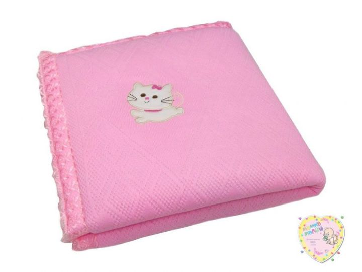 Одеяло на выписку вязаное розовое V-OD600(mx)-TR (80х100)