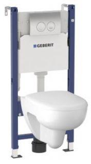 Комплект инсталляция и унитаз безободковый подвесной GEBERIT Duofix Renova