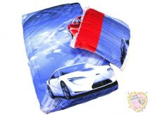 Комплект в кроватку: одеяло, подушка (синий с машинами) Мамин Малыш OPTMM.RU