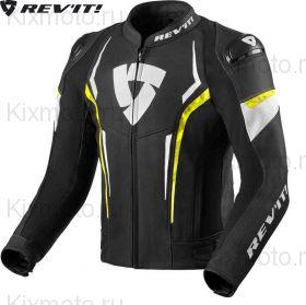 Мотокуртка Revit Glide, Черно-бело-желтая