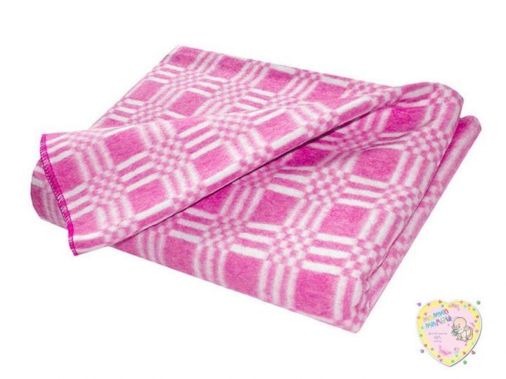 Одеяло детское байковое 112х90 (розовый)