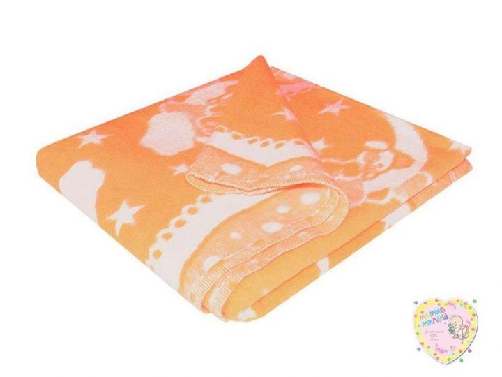 Одеяло байковое 140х100 персик, код 01762 Мамин Малыш