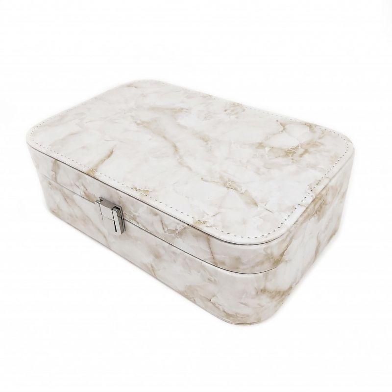 Шкатулка для украшений Мрамор 22х15х7 см (цвет бежевый)