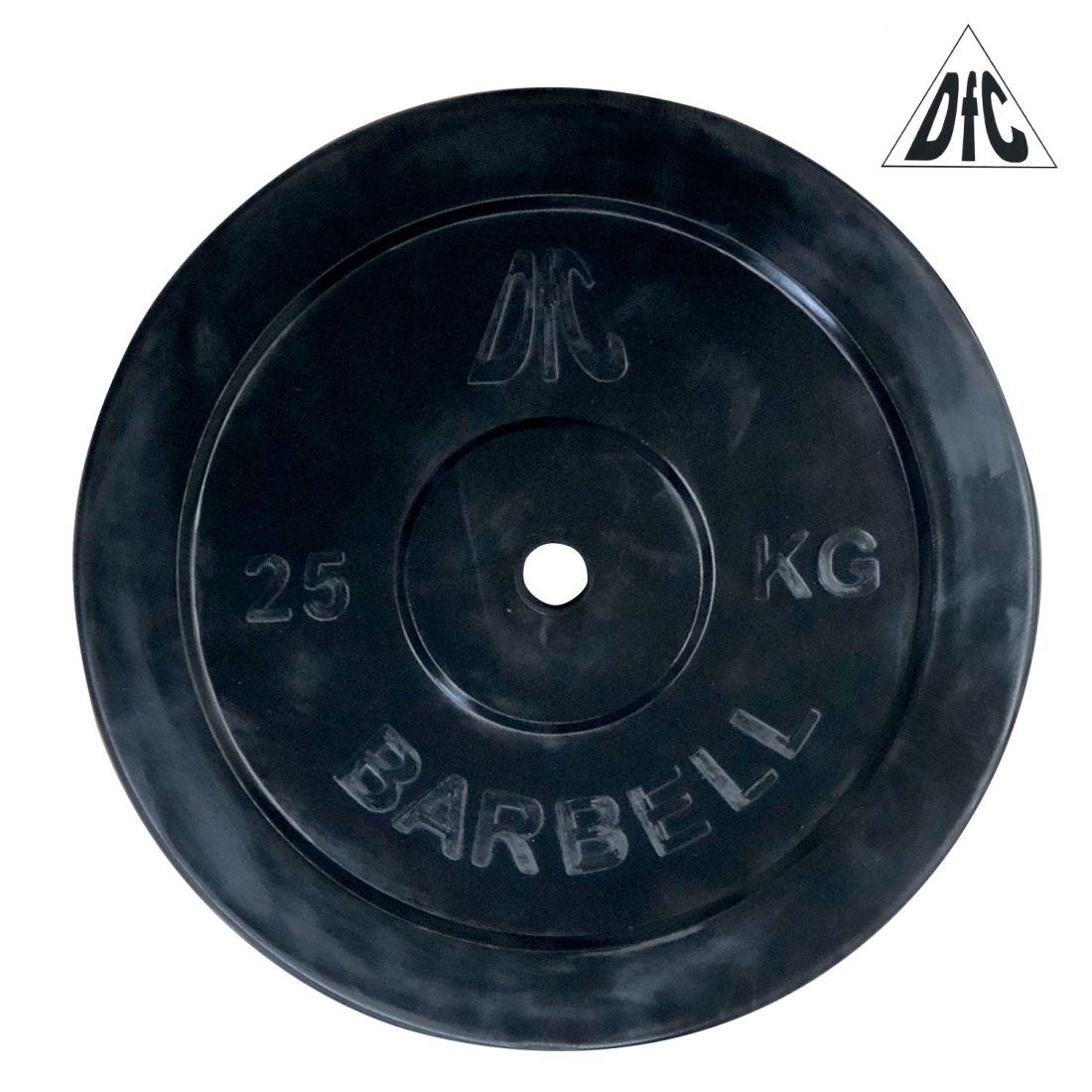 Диск обрезиненный DFC, чёрный, 26 мм, 25кг