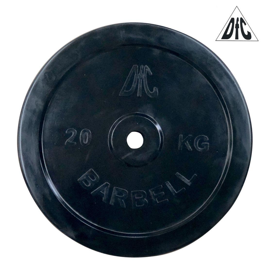 Диск обрезиненный DFC, чёрный, 26 мм, 20кг