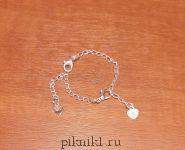 Украшение для игрушек - серебряный браслет
