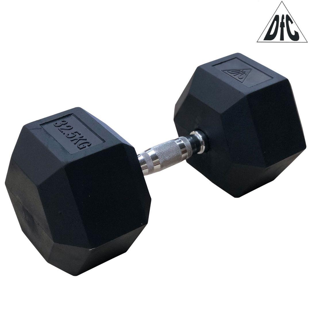 Гантели DFC гексаг. обрезиненная пара 32.5 кг DB001-32.5