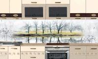 Фартук для кухни - Утренний туман | интерьерные наклейки