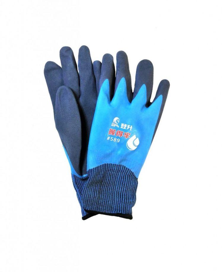 Нейлоновые рабочие перчатки с двойным покрытием из вспененного латекса