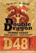Дрожжи спиртовые Double Dragon D48, 132 гр купить в Варим Самогон