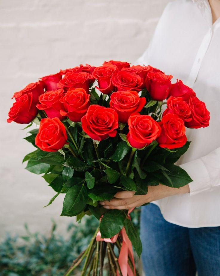 """Букет цветов из 25 роз """"Нина"""""""