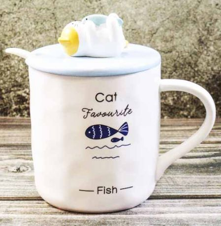 Кружка Котик с рыбкой 2