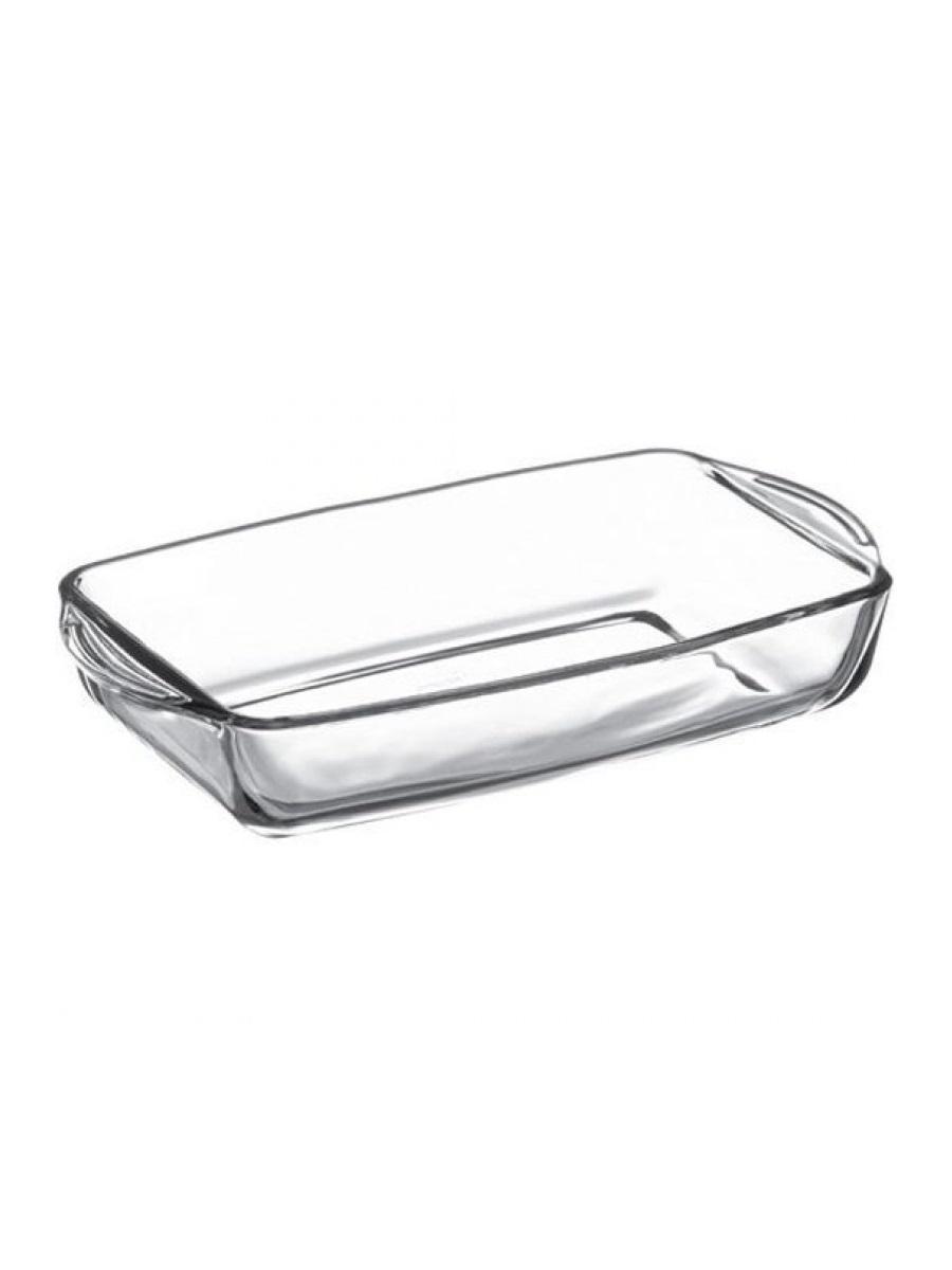 Форма для выпечки жаропрочная стеклянная прямоугольная 1,95 литра Borcam 59006 лоток прямоугольный 33,6х19х5 см
