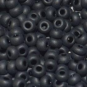 Бисер чешский 23980 непрозрачный череый матовый Preciosa 1 сорт