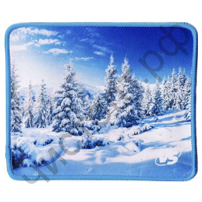 """Коврик для мыши VS """"Времена года"""", """"Зима"""", (180*220*2 мм),ткань+резиновое основание"""