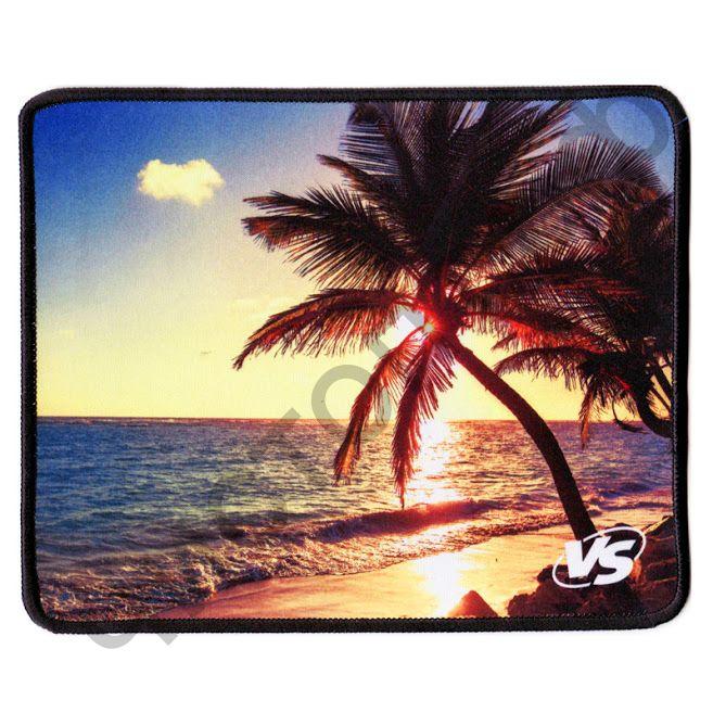 """Коврик для мыши VS """"Пляж"""", (180*220*2 мм), (6 рис),ткань+резиновое основание"""