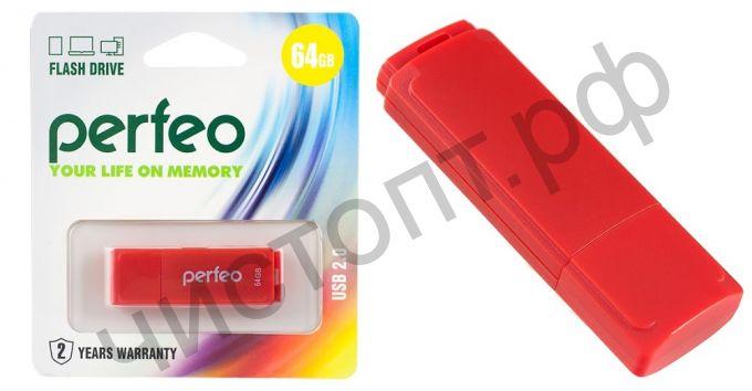 флэш-карта Perfeo 64GB C04 Red