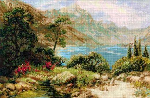 Набор для вышивания крестом Горное озеро № 1397 фирма Риолис