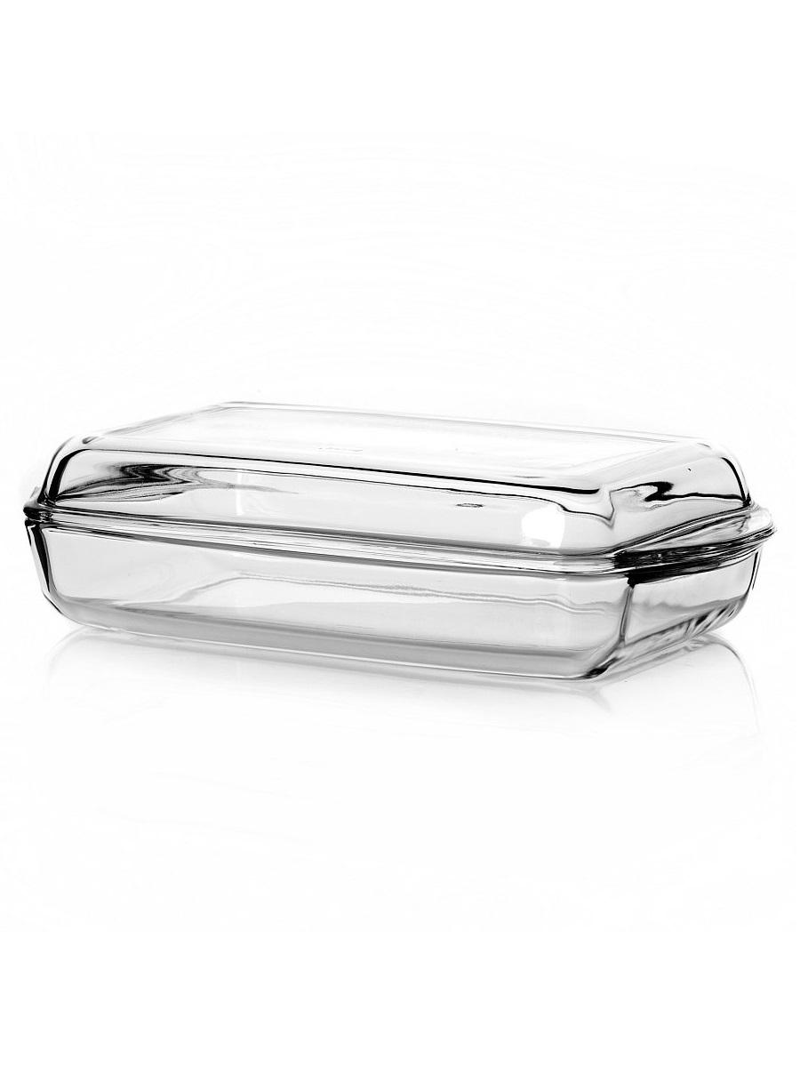 Прямоугольная форма с крышкой 2 литра Borcam 59009 жаропрочная стеклянная форма для запекания 33x19x5 см