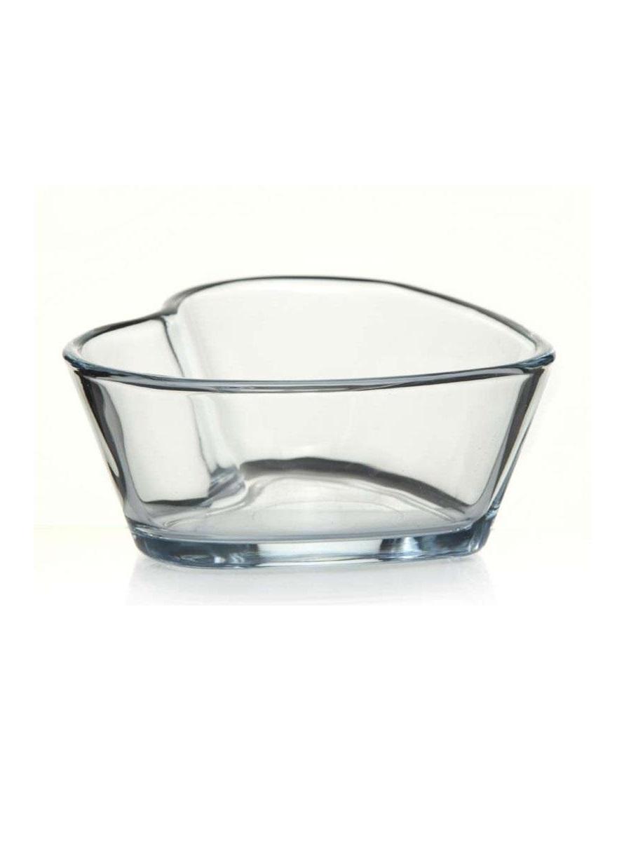Форма в виде сердца из жаропрочного стекла для выпечки кекса 0,27 литра Borcam 59494 12х11х5 см