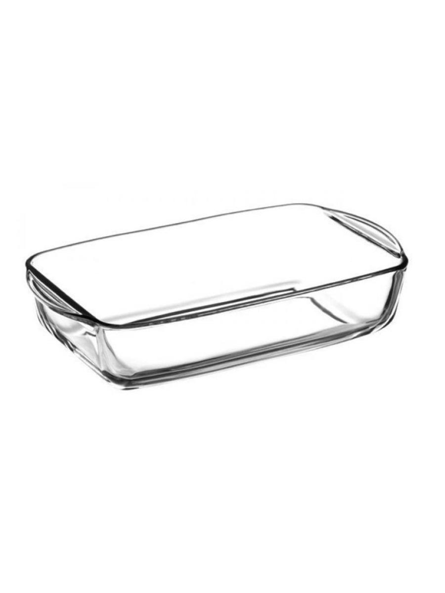 Прямоугольная форма для запекания из жаропрочного стекла 1,3 литра Borcam 59864 26х15х5,5 см
