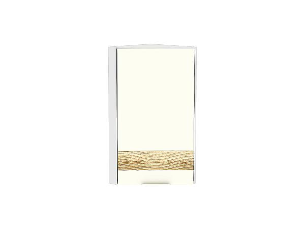 Шкаф верхний торцевой Терра ВТ230 D (Ваниль софт)