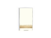 Шкаф верхний торцевой с 1-ой дверцей Терра ВТ230H D в цвете Ваниль софт