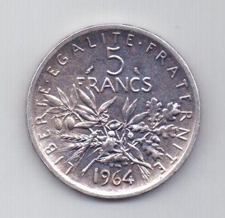 5 франков 1964 года AUNC Франция