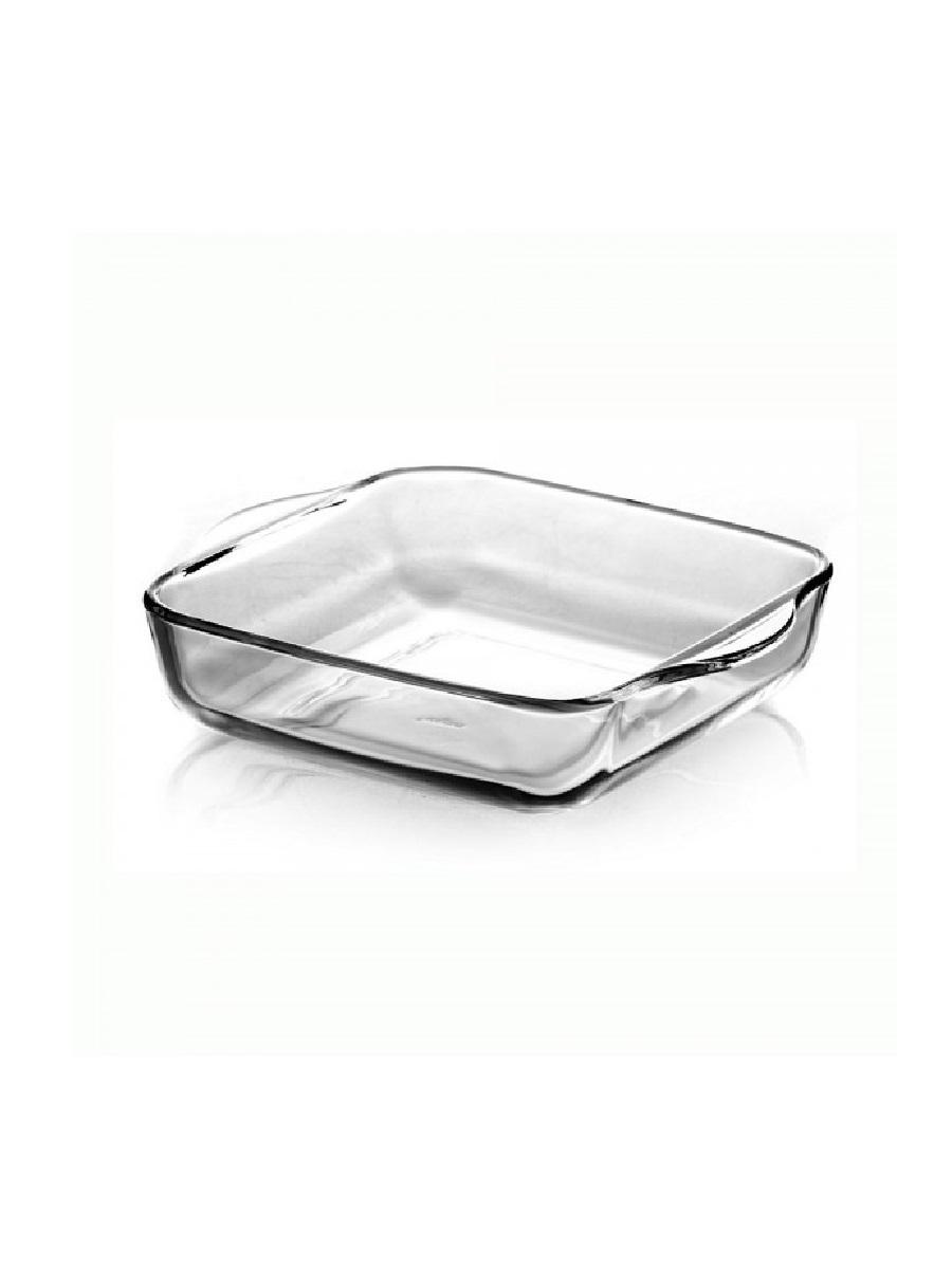 Форма для запекания жаропрочная стеклянная квадратная 3,2 литра Borcam 59024 лоток с ручками квадратный 28х28х6 см