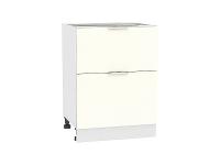 Шкаф нижний  с 2-мя выдвижыми ящиками Терра Н602 в цвете Ваниль софт