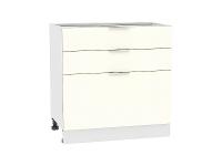 Шкаф нижний  с 3-мя выдвижными ящиками Терра Н803 в цвете Ваниль софт