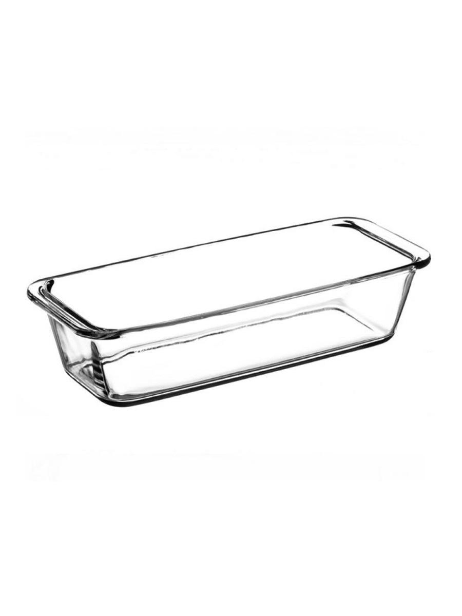 Форма для выпечки кекса жаропрочная стеклянная прямоугольная 1,6 литра Borcam 59104 лоток прямоугольный 31х12х7 см вкладыш