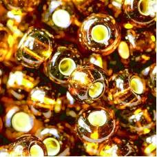 Бисер чешский 19090 прозрачный коричневый медная линия внутри Preciosa 1 сорт